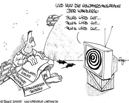 Karikatur, Cartoon: Zum Neuen Jahr, © Roger Schmidt