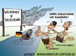 Karikatur, Cartoon: Zuwanderung, © Roger Schmidt