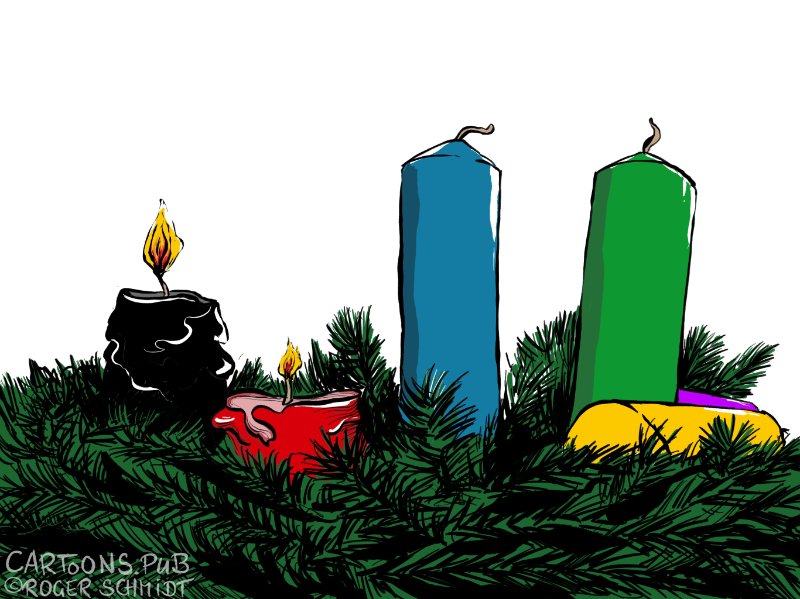 Karikatur, Cartoon: Zweiter Advent © Roger Schmidt